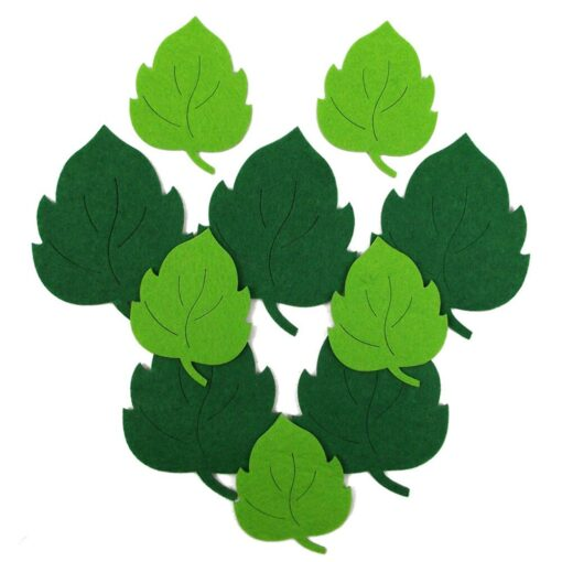 10pcs Leaves Non woven Fabric Kindergarten Decal Wall Sticker Educational Toy Durable Gift Kids toys Juguetes