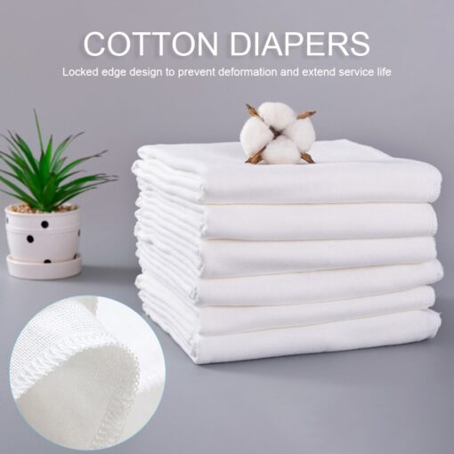 10pcs Newborn Reusable Baby Muslin Diapers Burp Cloth squares Soft Gauze Pure Cotton ecological Nappy Washable 4