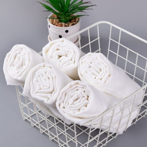 10pcs Newborn Reusable Baby Muslin Diapers Burp Cloth squares Soft Gauze Pure Cotton ecological Nappy Washable 5