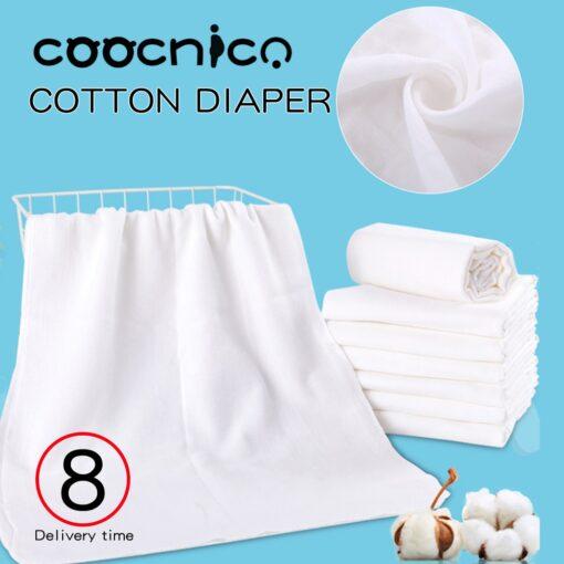 10pcs Newborn Reusable Baby Muslin Diapers Burp Cloth squares Soft Gauze Pure Cotton ecological Nappy Washable
