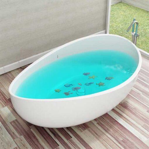 10pcs Non Slip Bathtub Stickers toys Marine Life Bathroom Self Adhesive Decals for Bath Tub Stairs 3