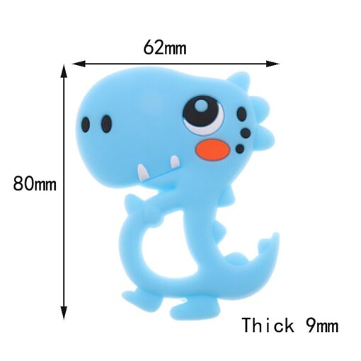 10pcs Silicone Teether Dinosaur Silicone Rodents In Baby Teether Food Grade Diy Handmade Teething Baby Bpa 5