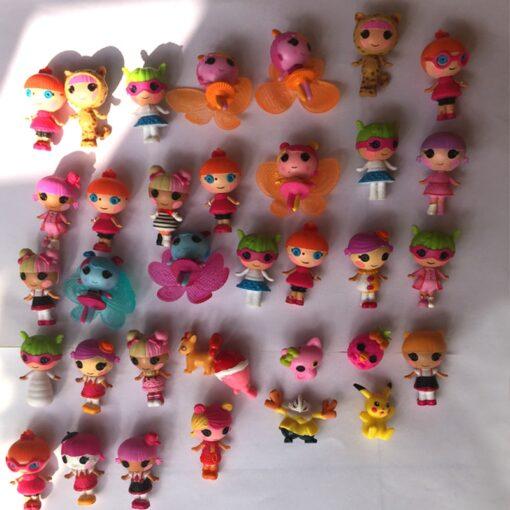 10pcs lot Mini Lalaloopsy baby Doll Bulk Button Eyes Action Figure Children Toy Juguetes Brinquedos Toys 2