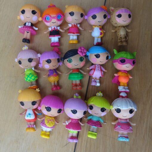 10pcs lot Mini Lalaloopsy baby Doll Bulk Button Eyes Action Figure Children Toy Juguetes Brinquedos Toys