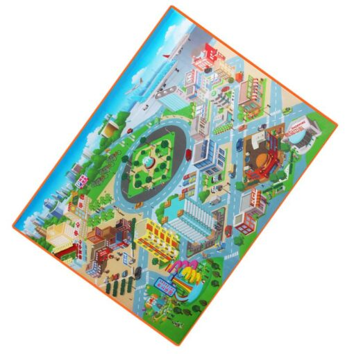 120 90CM Large City Road Play Mat Waterproof Non woven Kids Car Playmat Toys for Children 1