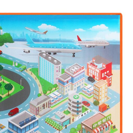 120 90CM Large City Road Play Mat Waterproof Non woven Kids Car Playmat Toys for Children 2