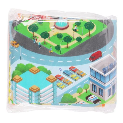 120 90CM Large City Road Play Mat Waterproof Non woven Kids Car Playmat Toys for Children 4
