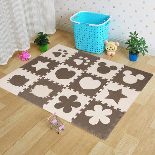 12pcs Baby Crawling Play Mat Foam Environmentally Friendly Thick Folding Mat Carpet Play Mat For Children