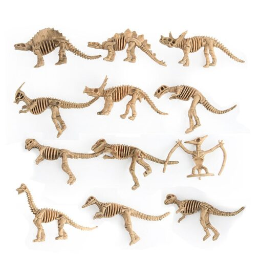 12pcs set Dinosaur Toys Dinosaur skeleton Simulation Model Set Mini Action Figure Jurassic Collection model Toys 2