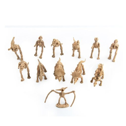 12pcs set Dinosaur Toys Dinosaur skeleton Simulation Model Set Mini Action Figure Jurassic Collection model Toys 4