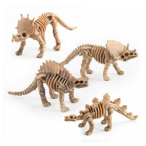 12pcs set Dinosaur Toys Dinosaur skeleton Simulation Model Set Mini Action Figure Jurassic Collection model Toys 5