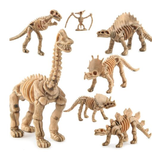 12pcs set Dinosaur Toys Dinosaur skeleton Simulation Model Set Mini Action Figure Jurassic Collection model Toys