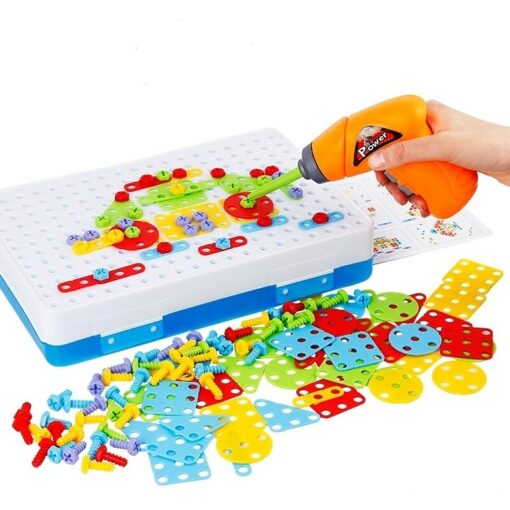 144Pcs Drill Screw Group Toys Kit Nut Disassembly Competition DIY Puzzle Toys Assembling Blocks Sets Children 2