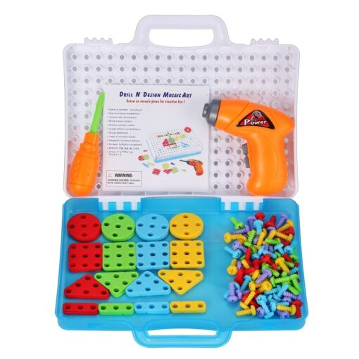 144Pcs Drill Screw Group Toys Kit Nut Disassembly Competition DIY Puzzle Toys Assembling Blocks Sets Children 3