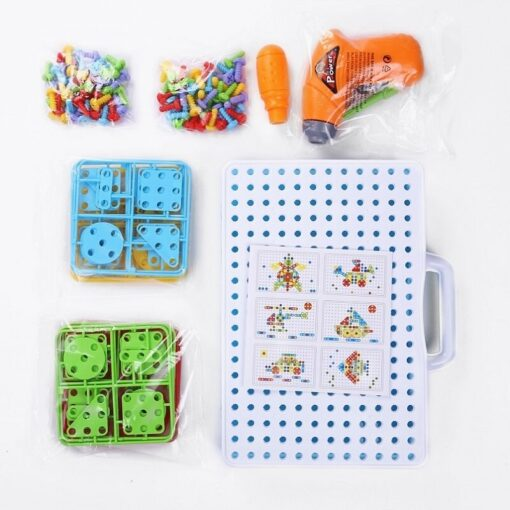 144Pcs Drill Screw Group Toys Kit Nut Disassembly Competition DIY Puzzle Toys Assembling Blocks Sets Children 5