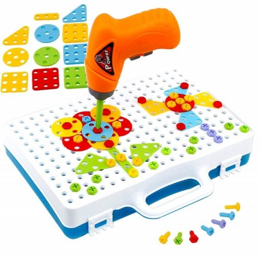 144Pcs Drill Screw Group Toys Kit Nut Disassembly Competition DIY Puzzle Toys Assembling Blocks Sets Children