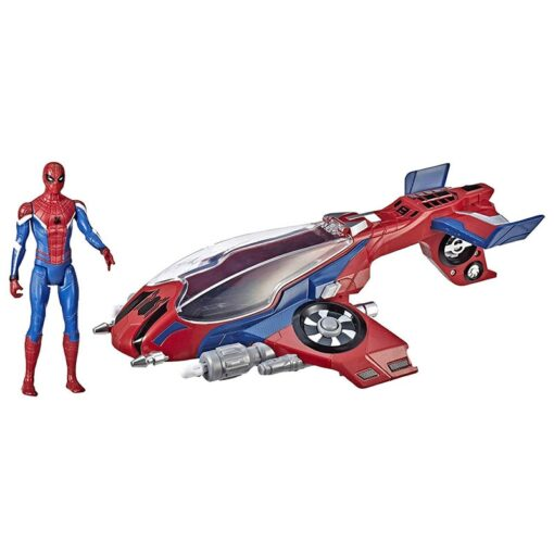14cm Marvel Toys Spider Man Far from Home Spider Jet with Vehicle Toy PVC Action Figure 1