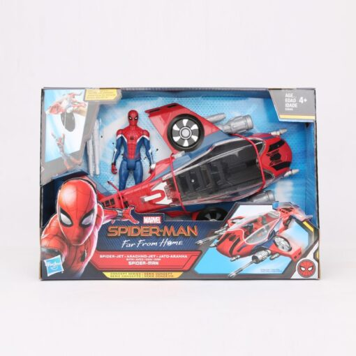 14cm Marvel Toys Spider Man Far from Home Spider Jet with Vehicle Toy PVC Action Figure 4