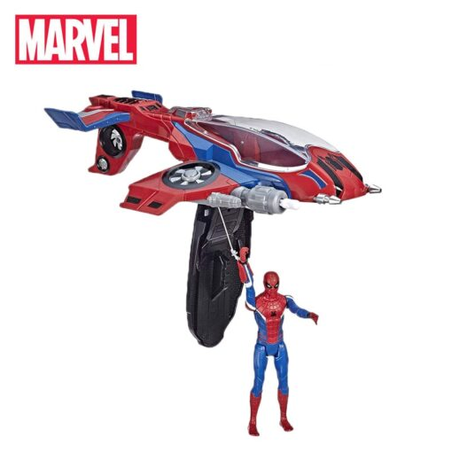 14cm Marvel Toys Spider Man Far from Home Spider Jet with Vehicle Toy PVC Action Figure