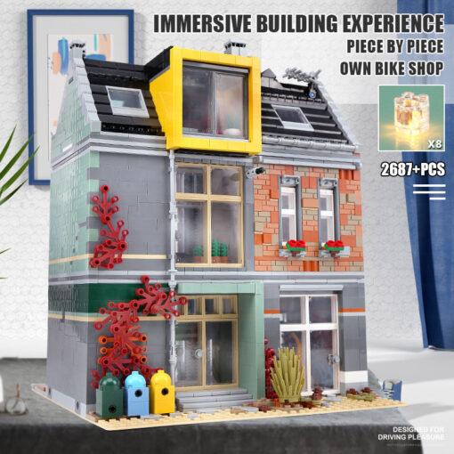15034 Streetview Building Toys Compaitble With 10004 MOC Bike Shop Model Building Blocks Assembly Bricks Kids 4