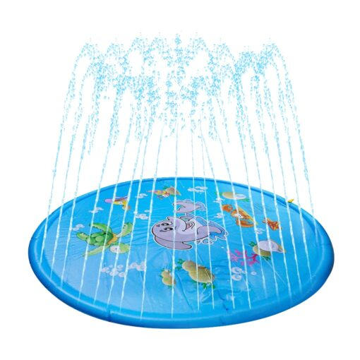 150cm Inflatable Spray Water Mat Lawn Games Pad Sprinkler Play Toys Inflatable Spray Water Cushion Toy 1