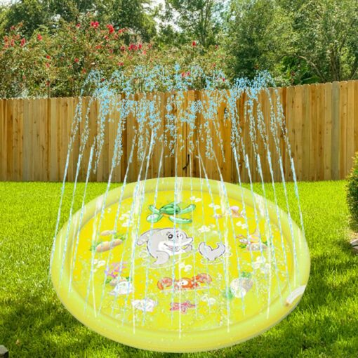 150cm Inflatable Spray Water Mat Lawn Games Pad Sprinkler Play Toys Inflatable Spray Water Cushion Toy 2