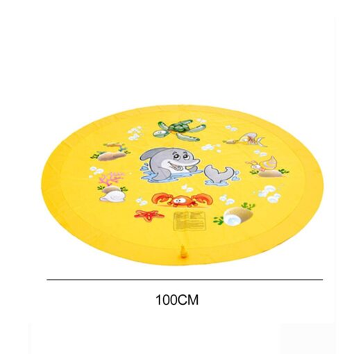 150cm Inflatable Spray Water Mat Lawn Games Pad Sprinkler Play Toys Inflatable Spray Water Cushion Toy 5