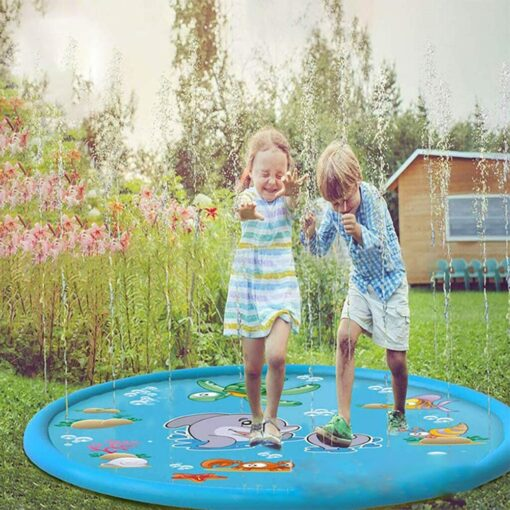 150cm Inflatable Spray Water Mat Lawn Games Pad Sprinkler Play Toys Inflatable Spray Water Cushion Toy