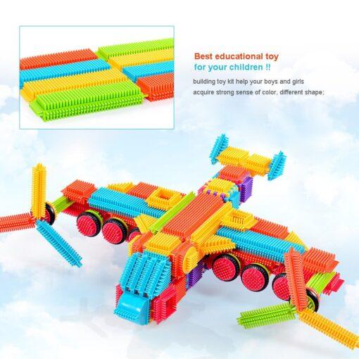 150pcs Bristle Shape 3D Building Blocks Tiles Construction Playboards Toys Kids toys educational Building Blocks Toddlers 3