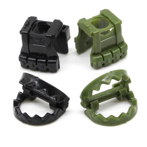 153Pcs Sandbag Laptop Armor Camouflag Building Blocks Model Bricks Military Army SWAT Weapon Team Set MOC 5