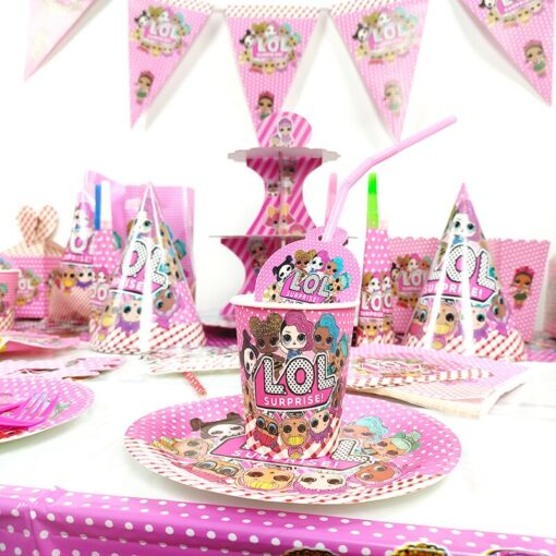 16 Style LOL Surprise Doll Family Birthday Party Decoration Toy Set Cartoon Anime Figure Dining Table 3