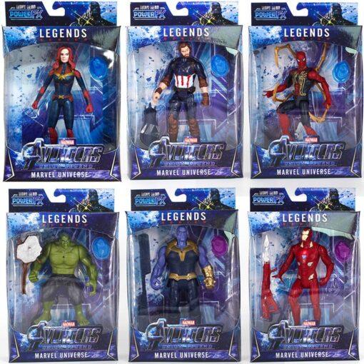 16CM LED Light Action Figure The Avengers Final Battle Heroes Captain Marvel Figure Toys for Children 1