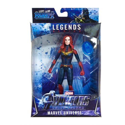16CM LED Light Action Figure The Avengers Final Battle Heroes Captain Marvel Figure Toys for Children 4
