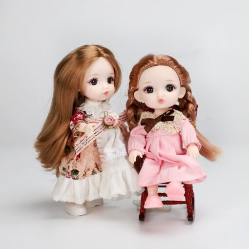 16cm BJD Doll 13 Joints moveable Fashion Dolls Baby nude body with Shoes dodo mouth makeup 1