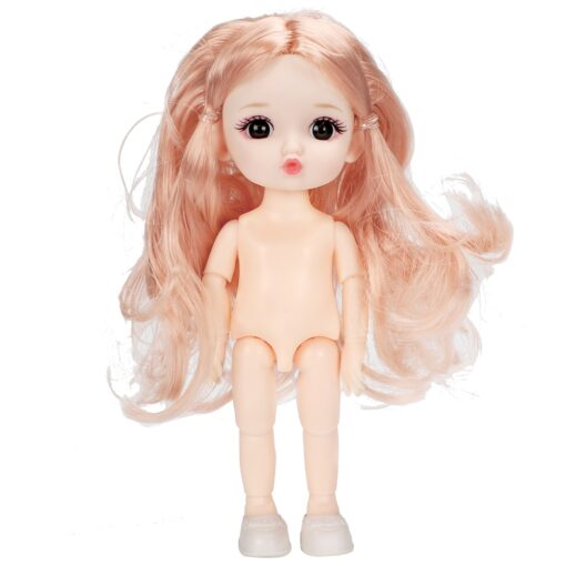 16cm BJD Doll 13 Joints moveable Fashion Dolls Baby nude body with Shoes dodo mouth makeup 2