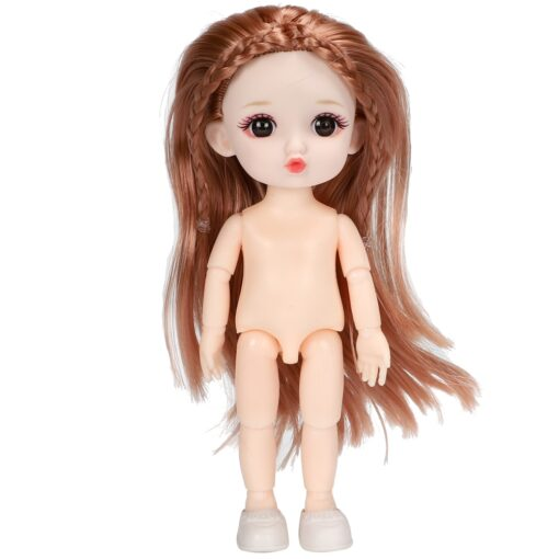 16cm BJD Doll 13 Joints moveable Fashion Dolls Baby nude body with Shoes dodo mouth makeup 3