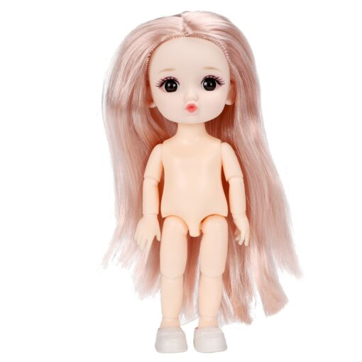 16cm BJD Doll 13 Joints moveable Fashion Dolls Baby nude body with Shoes dodo mouth makeup 4