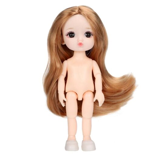 16cm BJD Doll 13 Joints moveable Fashion Dolls Baby nude body with Shoes dodo mouth makeup 5