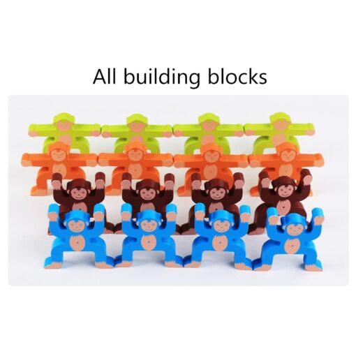 16pcs Balance Building Blocks Kit Naughty Monkey Children s Educational Fun Games Balancing Blocks Games Educational