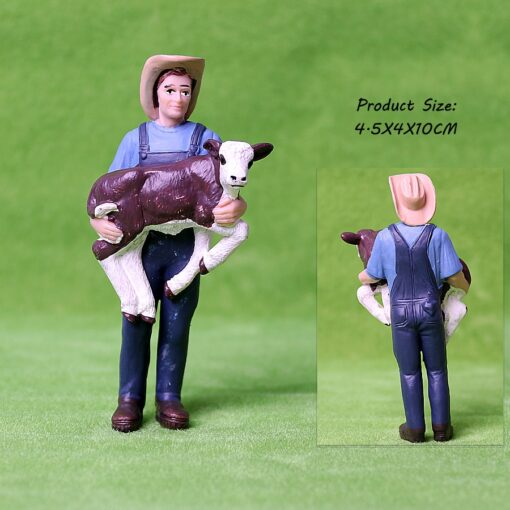 17PCS Assorted Simulation Farmer people Model Action Figures PVC Doll Farm Staff Figures Playsets Educational Toys 3