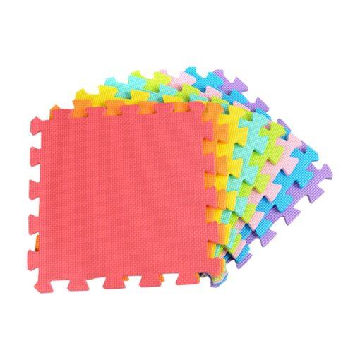 18 PCS Baby Kids Play Mat Multi Color Puzzle Excise Crawl Mat EVA Foam Floor Safe 1