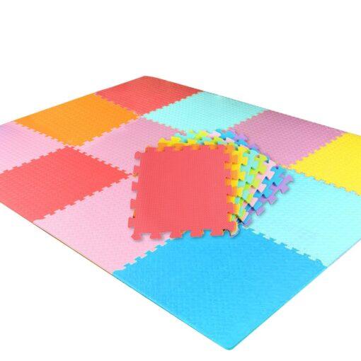 18 PCS Baby Kids Play Mat Multi Color Puzzle Excise Crawl Mat EVA Foam Floor Safe 2