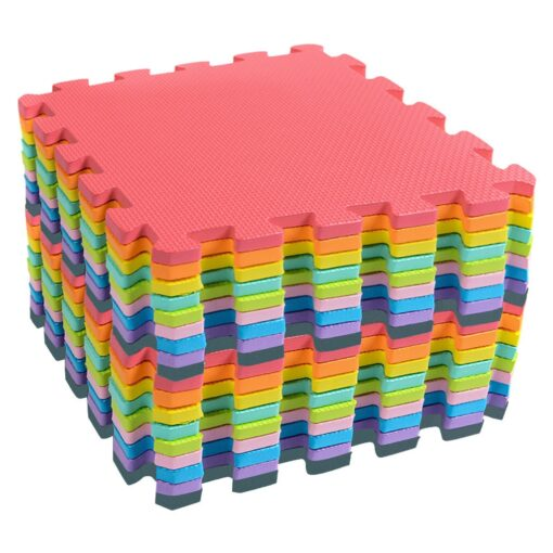 18 PCS Baby Kids Play Mat Multi Color Puzzle Excise Crawl Mat EVA Foam Floor Safe