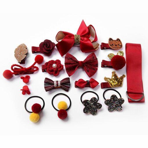 18pcs Children Cartoon Hair Clip Girl Gift Headwear Boxed Hairpin Hair Rope Accessories Hair Ring Circle 4