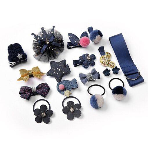 18pcs Children Cartoon Hair Clip Girl Gift Headwear Boxed Hairpin Hair Rope Accessories Hair Ring Circle 5