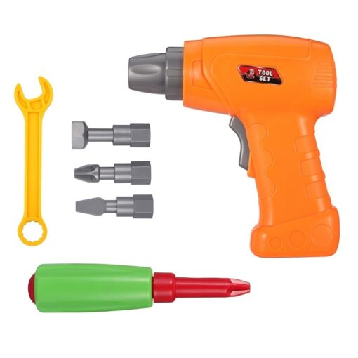 193Pcs Electric Drill Screw 3D Puzzle Toys For Children Boys DIY Creative Mosaic Puzzle Toys Kids 3