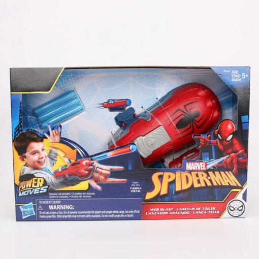 19cm Marvel Toys Hasbro Spider Man Power Moves Marvel Web Blast Web Shooter Dart Launching Toy 5