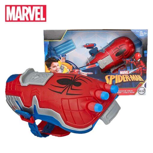19cm Marvel Toys Hasbro Spider Man Power Moves Marvel Web Blast Web Shooter Dart Launching Toy