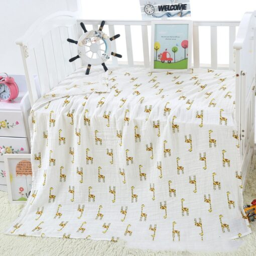 1PC 120cm 110cm Swaddle Blanket Baby Blanket Bamboo Muslin Blanket Baby Blankets Newborn Blanket Swaddle Cotton 2