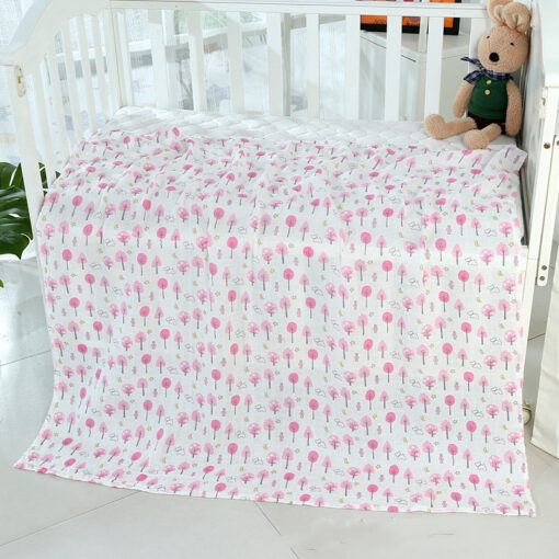 1PC 120cm 110cm Swaddle Blanket Baby Blanket Bamboo Muslin Blanket Baby Blankets Newborn Blanket Swaddle Cotton 3